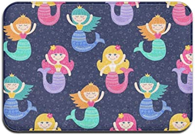 Cute Kitten Floor Door Mat Non Slip Entrance Rug Low Profile Carpet Home Decor 40x60cm,a23 Cute Mermaid a23 Cute Mermaid