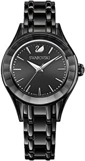Swarovski Women's Stainless Steel Quartz Watch with Metal Strap, Black, 17 (Model: 5188824)