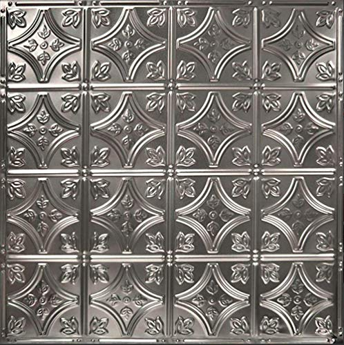 American Tin Ceilings Nail Up Kit, Pattern #3, 5 Pack (24' x 24', Unfinished)