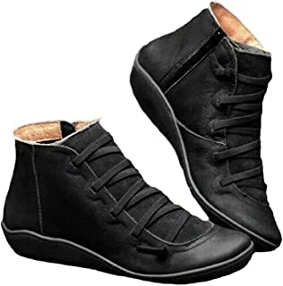 New Arch Support Boots- Women's Leather Casual Shoes Side Zipper Ankle Booties