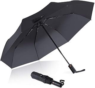 REYLEO Travel Umbrella Windproof Up to 120km/h, Teflon Coating, Auto Open/Close Button, Folding Umbrellas Can be Folded 10000+ Times