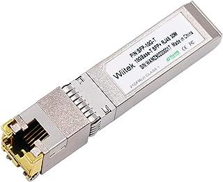 Wiitek 10GBase-T 10G RJ45 to SFP+ Copper Transceiver 30-Meter, Compatible for Cisco SFP-10G-T-S, Ubiquiti, D-Link, Supermi...