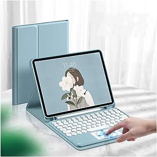 iPad Air 10.9インチ 2020新型 キーボード ケース タッチパッド搭載 可愛い 丸型キー 第4世代 iPad Air4 アイパッド エア4 キーボード付き iPad 10.9 Air 4 カバー マウス機能 ペンホルダー付き Ap...