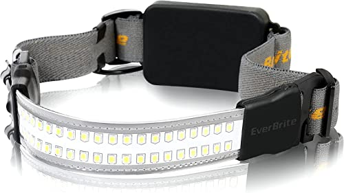 new arrival EverBrite Broadbeam LED Headlamp, 210°Illumination, outlet sale 400 Lumens, 3 Lighting Modes, IPX4 Water outlet sale Resistant Perfect for Trail Running, Camping and Hiking, 3 AAA Battery Powered online