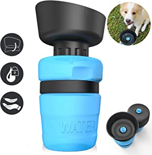 Pet Water Bottle for Dogs,Dog Water Bottle Foldable,Dog Travel Water Bottle,Dog Water Dispenser,Portable Dog Water Bottle for Walking Hiking Beach,Lightweight & Convenient for Travel,BPA Free,18 OZ