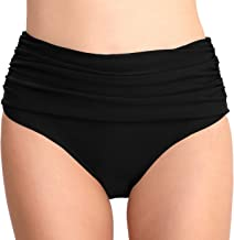 T1FE 1SFE High Waisted Bikini Bottoms for Women Swim Bottom Tummy Control Swimsuit Bottoms