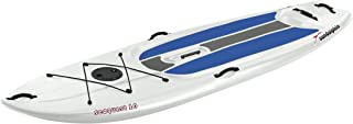 SUNDOLPHIN Sun Dolphin Seaquest Stand Up Paddleboard (White/Blue Pads, 10-Feet) with Paddle