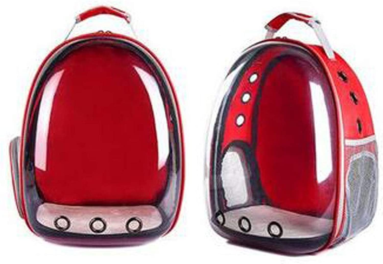 Guyuexuan Outdoor Pet Backpack, Space Capsule Pet Backpack, Transparent Waterproof Cat with Backpack Pet Travel Essentials (color   Red)