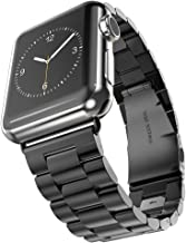 Hontao Stainless Steel Band for Apple Watch 42mm, Metal Link Replacement Strap for iWatch Series 3/2/1 (black 42mm - 3 pointers)