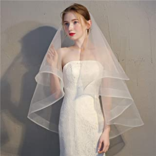Wedding Veil Bridal Veil,wedding Cathedral Veils Accessories,korean Veil Brigade Short Stretch Net Edging Retro Veil,double-layer Cover with Hair Comb