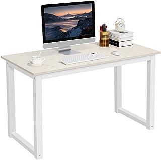 Yaheetech Mesa Escritorio Ordenador Grande 120x60cm Minimalistas Escritorios Modernos para Oficina Despacho Estudio Blanco...