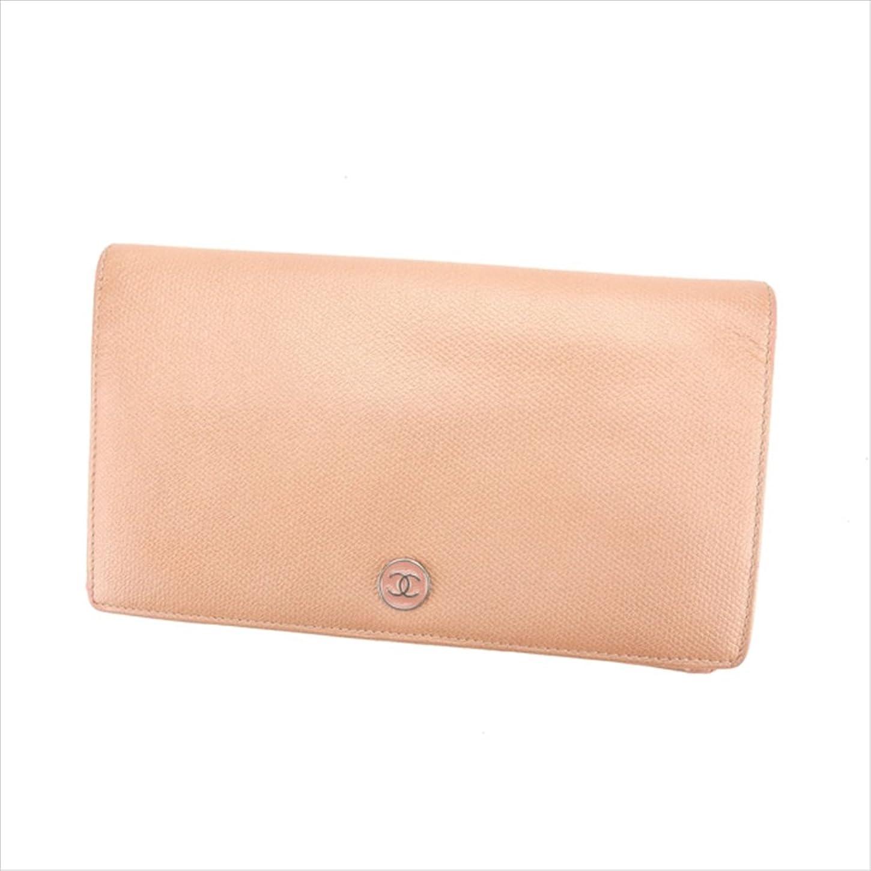 属する有望自己(シャネル) Chanel 長財布 ファスナー 二つ折り メタリックピンク×シルバー ココボタン レディース 中古 D1329