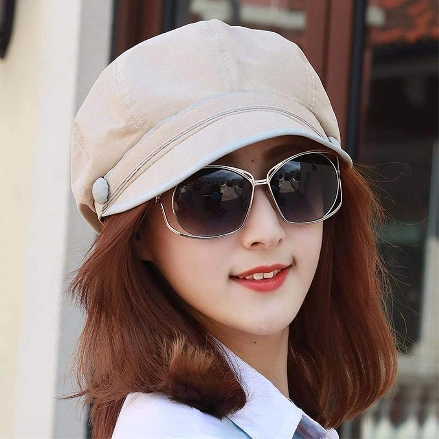 Chuiqingnet Hat the girl breathable package edge octagonal cap peaked cap hats Fashion Cap cool outdoor painters cap beret