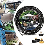 Innoo Tech Nebulizzatore Giardino - Kit di irrigazione, sistema di irrigazione, 12 m Misting Line + 14 ugelli nebulizzatori in ottone + un adattatore in ottone, adatto per giardini, serre e trampolini