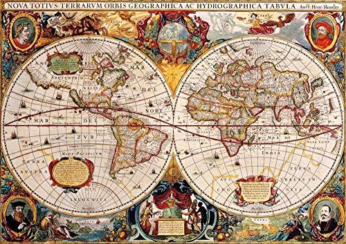 Legpuzzel 1000 Stukjes, Retro Wereldkaarten, 1500/1000/500 Stukjes, Puzzel Spelletjes Woondecoratie Cadeaus