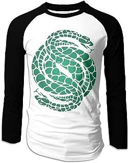 Eowlte Des-Tiny 2 Gambit Logo Men's Raglan Long Sleeve Athletic Casual Baseball T-Shirt Black