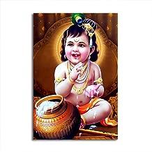 100yellow Baby Krishna Print Poster (Paper ; 12x18-Inch)