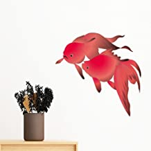 DIYthinker Painting Japanese Culture Fish Removable Wall Sticker Art Decals Mural DIY Wallpaper for Room Decal 100Cm