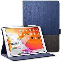ESR iPad 10.2 ケース 第7世代 2019モデル専用 PUレザー 手帳型[オートスリープ/ウェイク][ペンシルホルダー付き][ブックカバーデザイン][角度調節可能な鑑賞スタンド]アーバンプレミアム 二つ折りスタンド iPad 10.2インチ2019専用カバー(灰紺色)