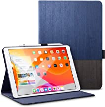 ESR iPad 10.2 ケース 第7世代 2019モデル専用 オックスフォード生地 手帳型[オートスリープ/ウェイク][ペンシルホルダー付き][ブックカバーデザイン][角度調節可能な鑑賞スタンド]アーバンプレミアム 二つ折りスタンド iPad 10.2インチ2019専用カバー(灰紺色)