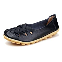 8946027153ae Kunsto Women s Leather Loafer Shoes Slip On