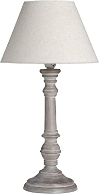 Hill 1975 Pella Table Lamp, Wood, Linen, Mixed, one