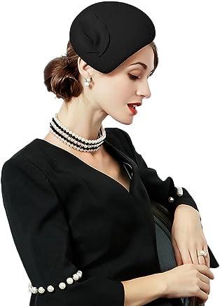 5f59309ee64 Flower Womens Dress Fascinator Wool Felt Fedora French Pillbox Hat Party  Wedding