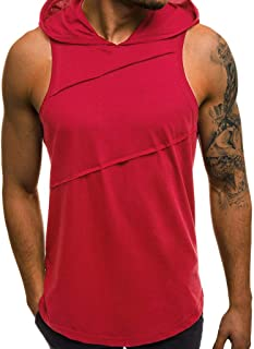 2019 New Summer G-Real Mens Fashion Casual Sleeveless Zip Up Hoodie Athletic Active Cotton Sweatshirt Vest Top