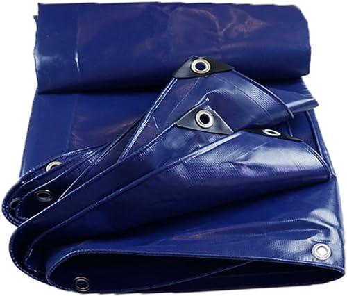LIYFF- Bches Résistantes multifonctionnelles Bleues de bche 550g m2 de bche Résistante d'ombre extérieure pour Le Camping, la Pêche, Le Jardinage - UV Résistant