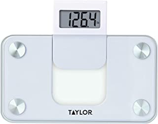 Taylor Precision Products Digital Glass Mini Scale with Expandable Readout, White