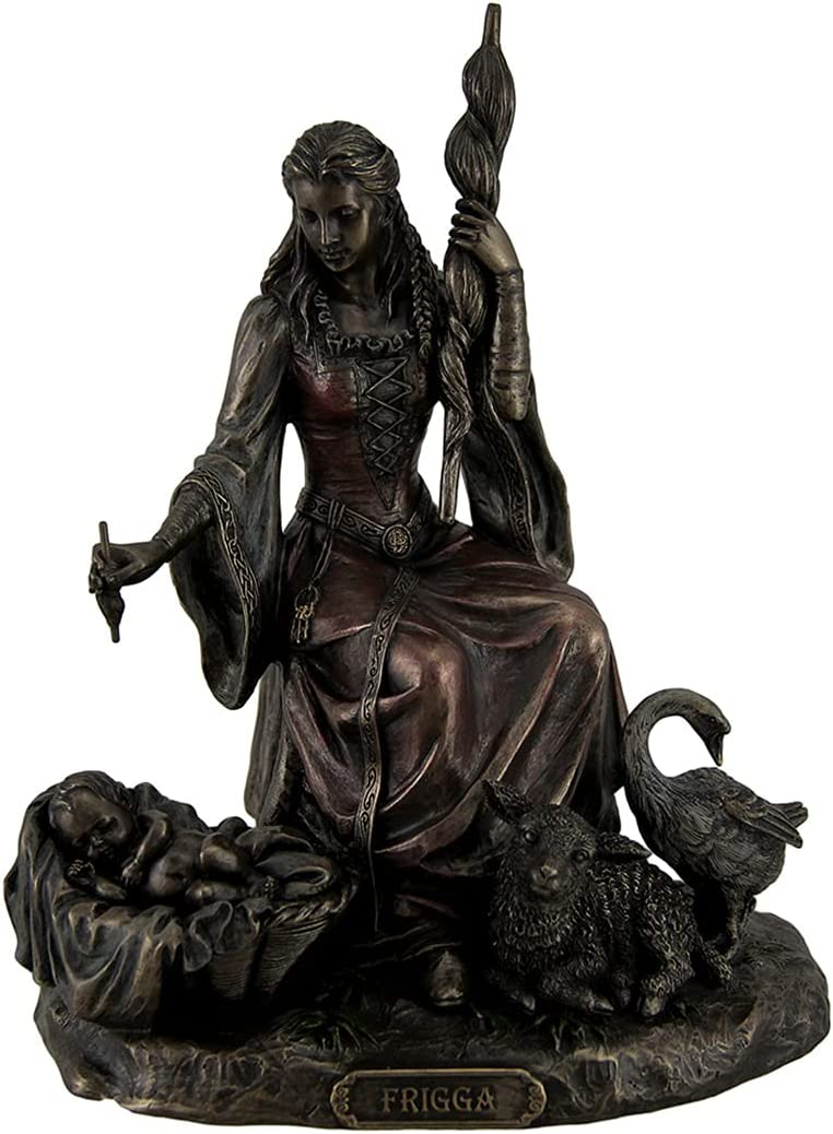 Resin Statues Max 43% Milwaukee Mall OFF Frigga Norse Goddess Marriage And Of Love Destiny