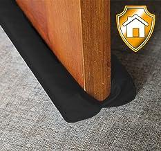 """MAXTID Under Door Draft Blocker Black 32-38"""" Front Air Draft Stopper Reduce Noise Window Breeze Blocker Adjustable Door Sweeps"""