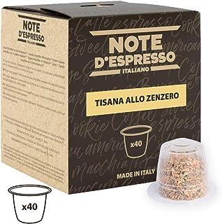 Note D'Espresso - Cápsulas de tisana de jengibre exclusivamente compatibles con cafeteras Nespresso*, 2g (caja de 40 unidades)