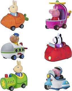 Peppa Pig Free-Wheelin' Friends Mini Buggies, 6 Pack Set - Peppa, George Pig, Zoe Zebra, Pedro Pony, Rebecca & Richard Rab...