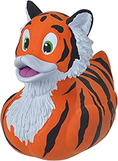 """Wild Republic Rubber Duck, Gifts for Kids, Bath Toys, Mould Free Pool Toys, Tiger, 4"""""""