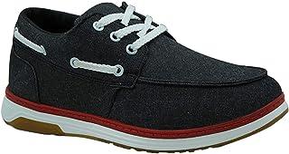حذاء جينز برباط ونعل مطاط مختلف اللون بخياطة امامية للرجال من زيرو 3