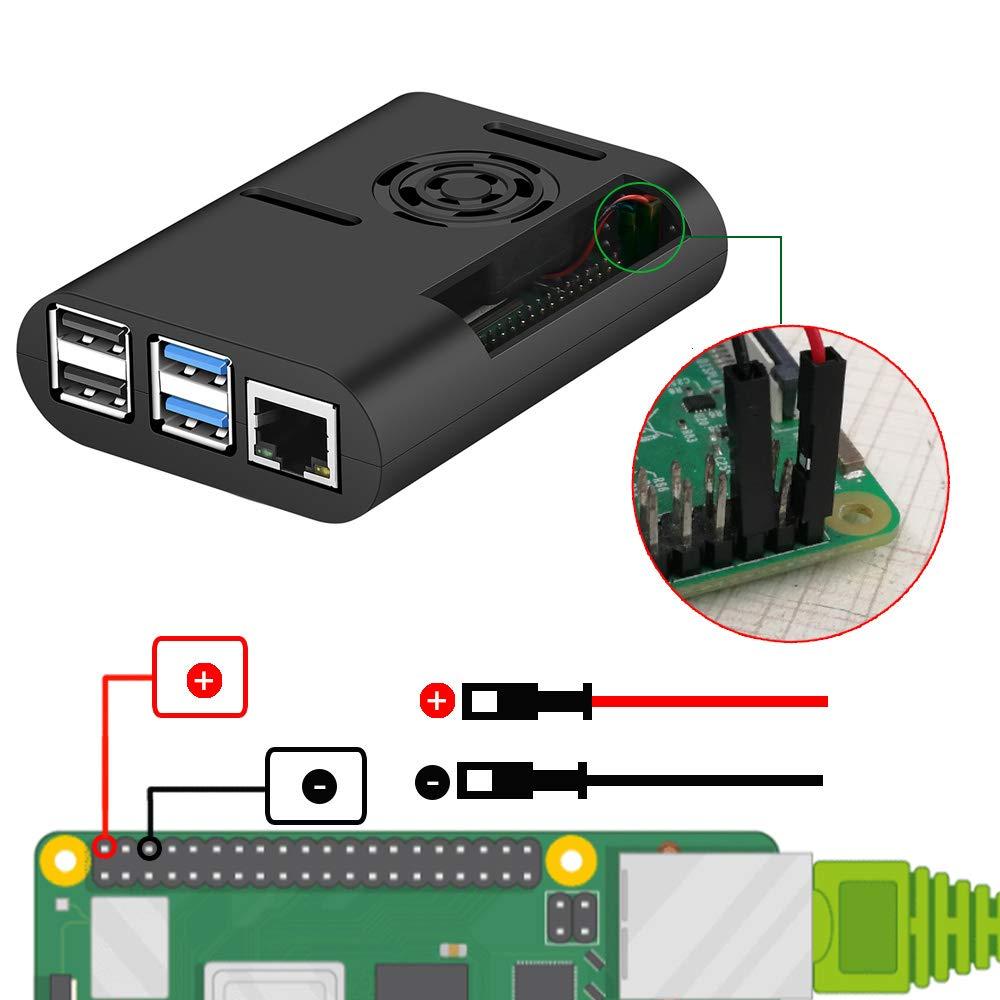 Raspberry Pi 4 Case, MazerPi Raspberry Pi Case with Cooling Fan, Raspberry Pi 4 Heatsink for Raspberry Pi 4 Model B, Pi 4B, Pi 4