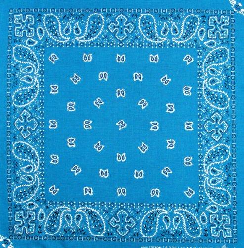 Tuch Paisleymuster Blau Kopftuch Bandana Halstuch Biker Sport Nickituch Kopfbedeckung ca. 51 x 51 cm Einseitig Bedruckt
