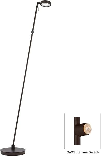 George Kovacs P4304 647 George S Reading Room 1 Light LED Pharmacy Floor Lamp Copper Bronze Patina Finish
