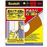 3M スコッチ室内ドア浴室戸あたりV型テープ2本 茶 EN-54BR