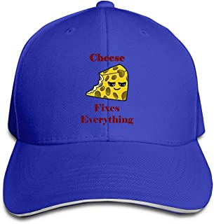 Aiguan Cheese Fixes Everything Cap Unisex Low Profile Cotton Hat Baseball Caps Navy