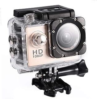 Mini DV-sportcamera, waterdichte buitensportactiecamera 1080P HD-camcorder, 2 inch high-definition scherm, 90 graden brede...