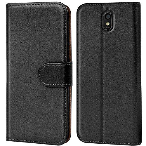Verco Huawei Y625 Hülle, Handyhülle für Huawei Ascend Y625 Tasche PU Leder Flip Case Brieftasche - Schwarz