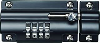 Sterling CLB110BK 110mm 4 Unique Combination Locking Bolt-Black-with Anti-Tamper Security Fixing Screws