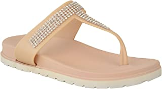 Fashion Thirsty Womens Summer Jelly Sandals Diamante Wedge Cushioned Comfort Shoes