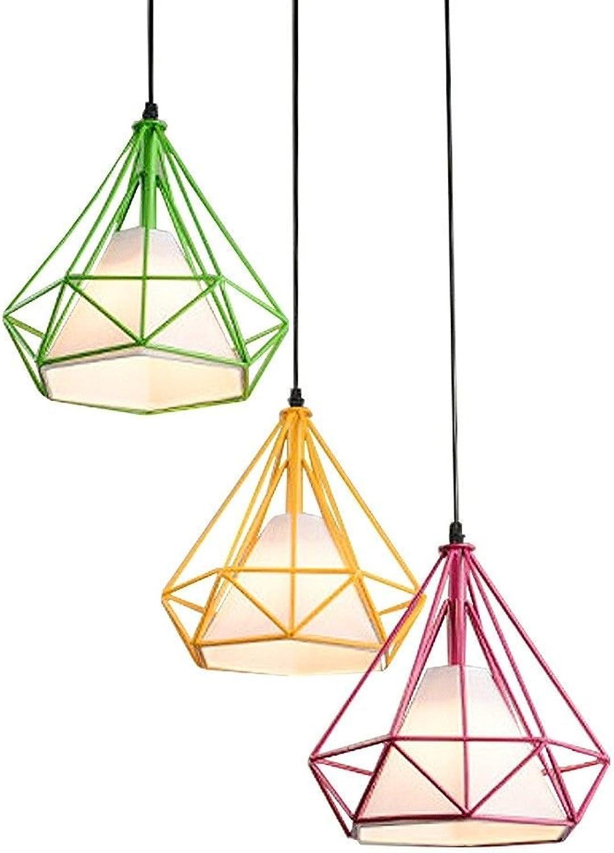 Haoaijia Pendelleuchte Iron Diamond Pendelleuchten Birdcage Ceiling Pendelleuchten Home Dekorative Leuchte D38   45   50Cm, Orange, Durchmesser 25Cm