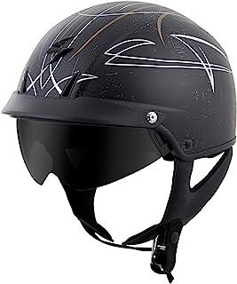 ScorpionExo EXO-C110 Unisex-Adult Half-Size-Style Pinstripe Helmet (Gold/Silver, Small)