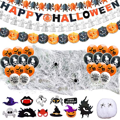 LISOPO 48pcs Decoration Halloween XXL Ensemble Deco...