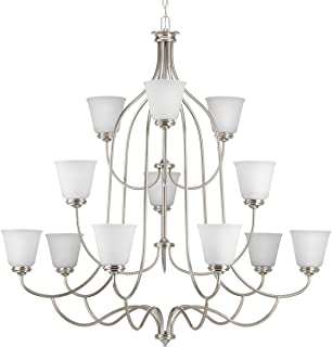 chandelier in brushed nickel