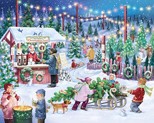 Christmas Tree Farm Jigsaw Puzzle 1000 Piece